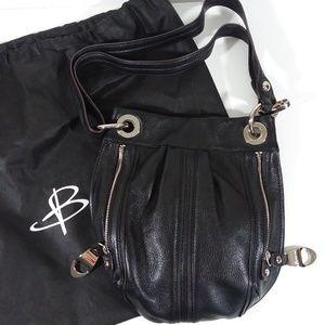 B. Makowsky black leather crossbody with dustbag